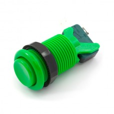 Concave Button with Microswitch - Green