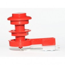 Button with blade - Red